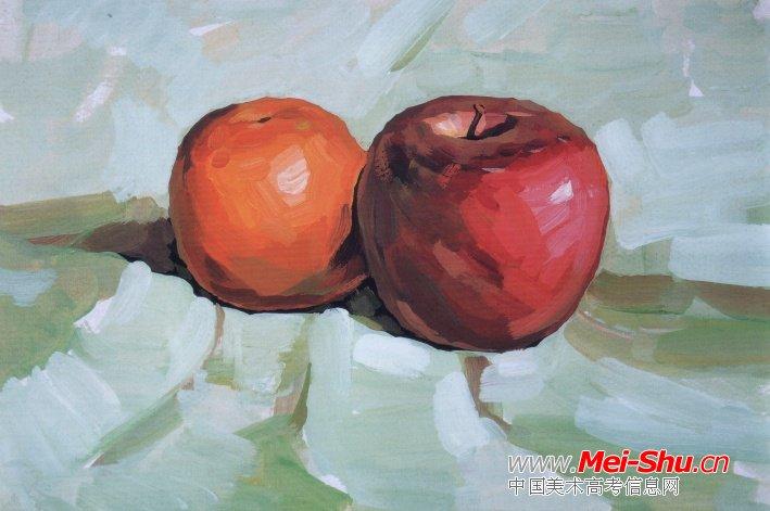桔子和苹果的步骤图