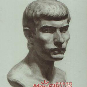 素描石膏像,罗马青年头像