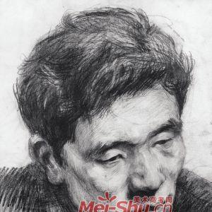 素描头像-胡须的画法,老人头像技法