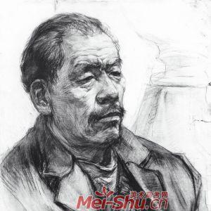 素描图像-男子头像,侧面男头像