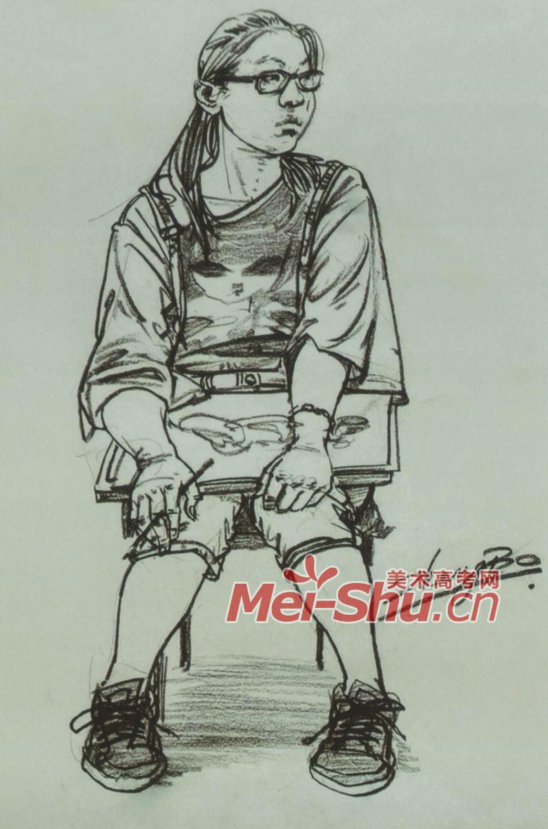 人物速写坐姿坐着发呆的人坐在椅子上的女青年男青年扶着架子坐姿图片