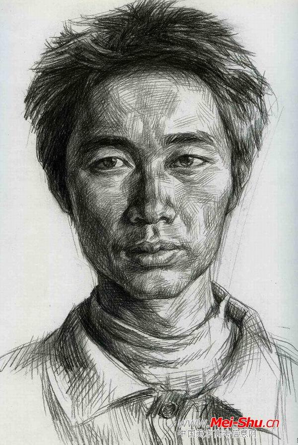 中年民工—真人头像—美术高考素描教程
