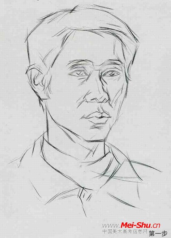 男民工—真人头像—美术高考素描教程