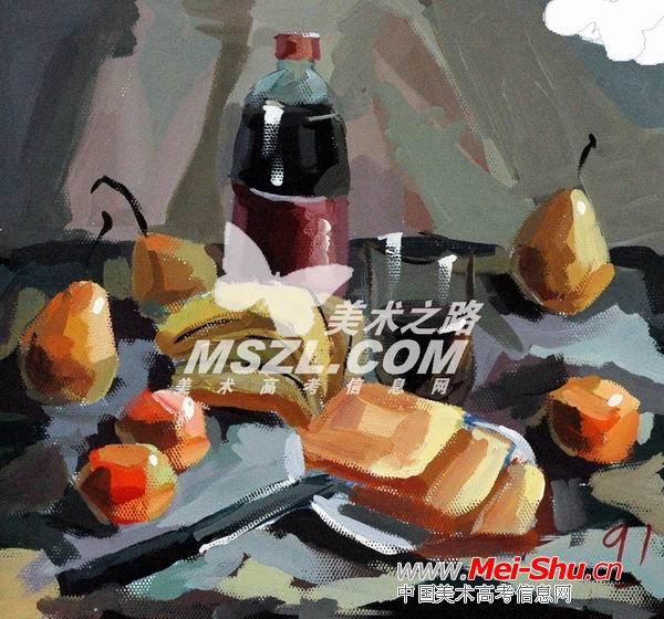 西安美术学院色彩优秀试卷315 - 中国美术高考