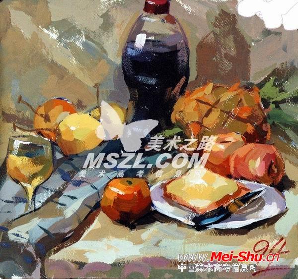西安美术学院色彩优秀试卷330 - 中国美术高考