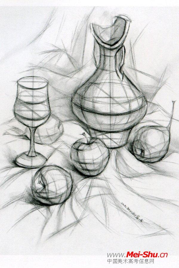静物素描图片 篮球静物素描图,简单静物素描图片大全