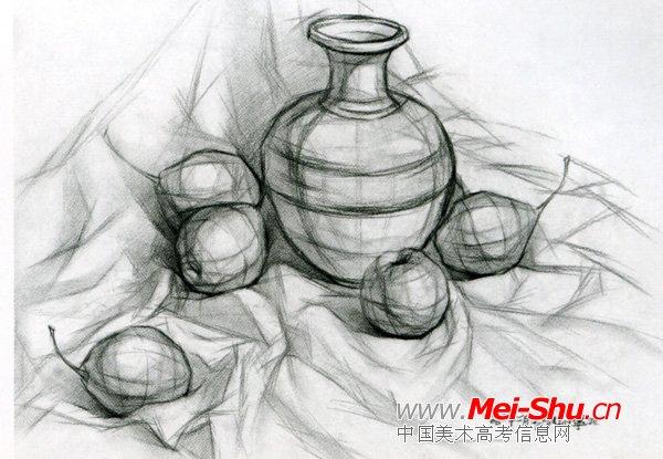 美术高考素描静物示范作品006