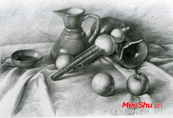 美术高考素描静物示范作品040