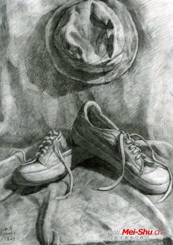 美术高考素描静物示范作品051