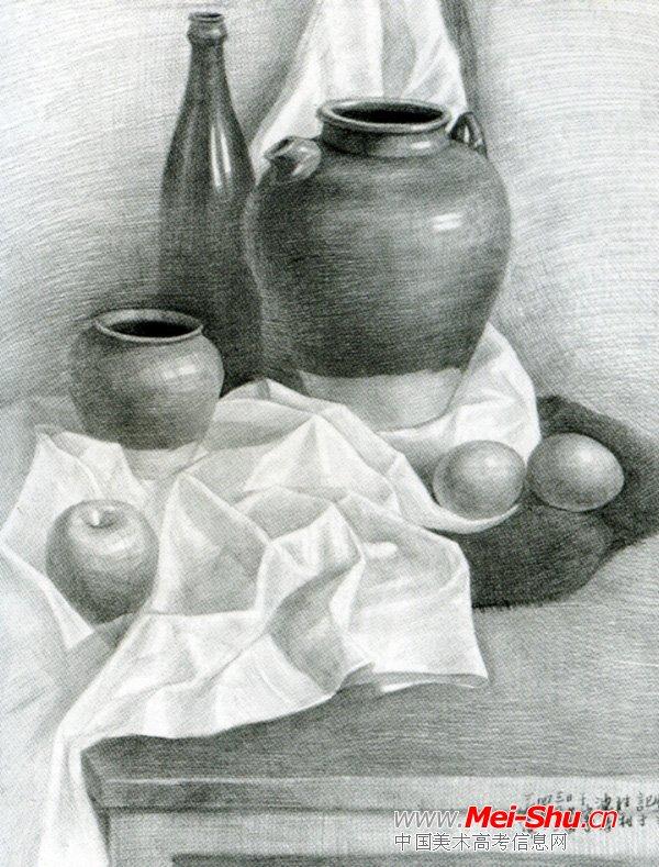 美术高考素描静物示范作品064