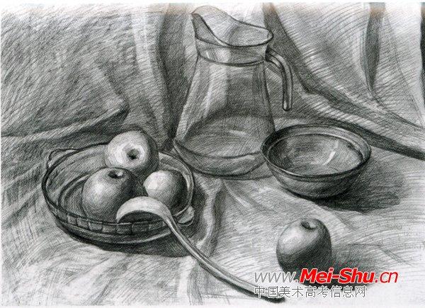美术高考素描静物示范作品072