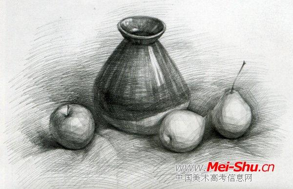 美术高考素描静物示范作品075