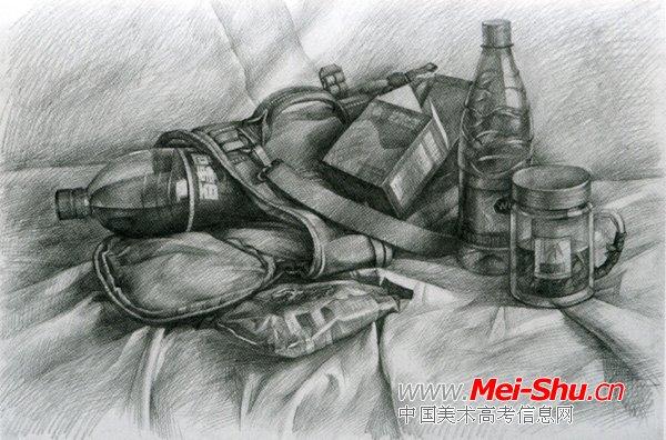 美术高考素描静物示范作品102