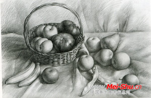 美术高考素描静物示范作品109