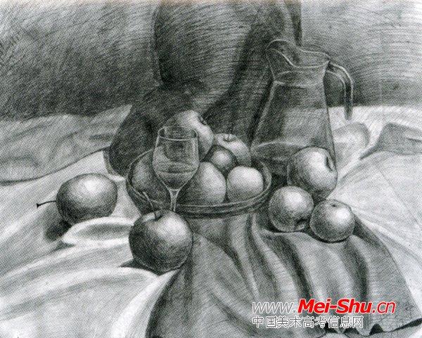 美术高考素描静物示范作品112