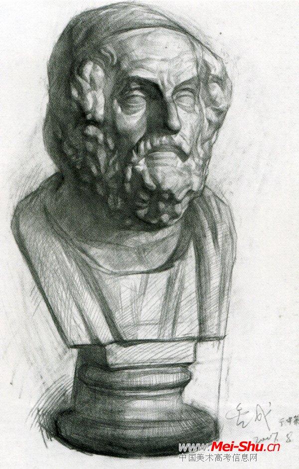 美术高考素描石膏像示范作品063
