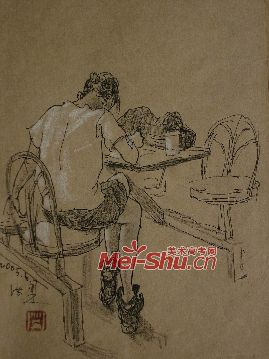 ,学习的姑娘,宿舍,画画,坐姿,站姿