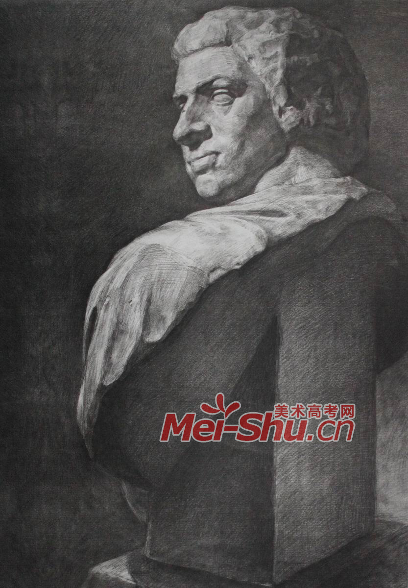 阿格里巴石膏素描头像  素描石膏头像 伏尔泰,头像写生,正面,侧面,顺