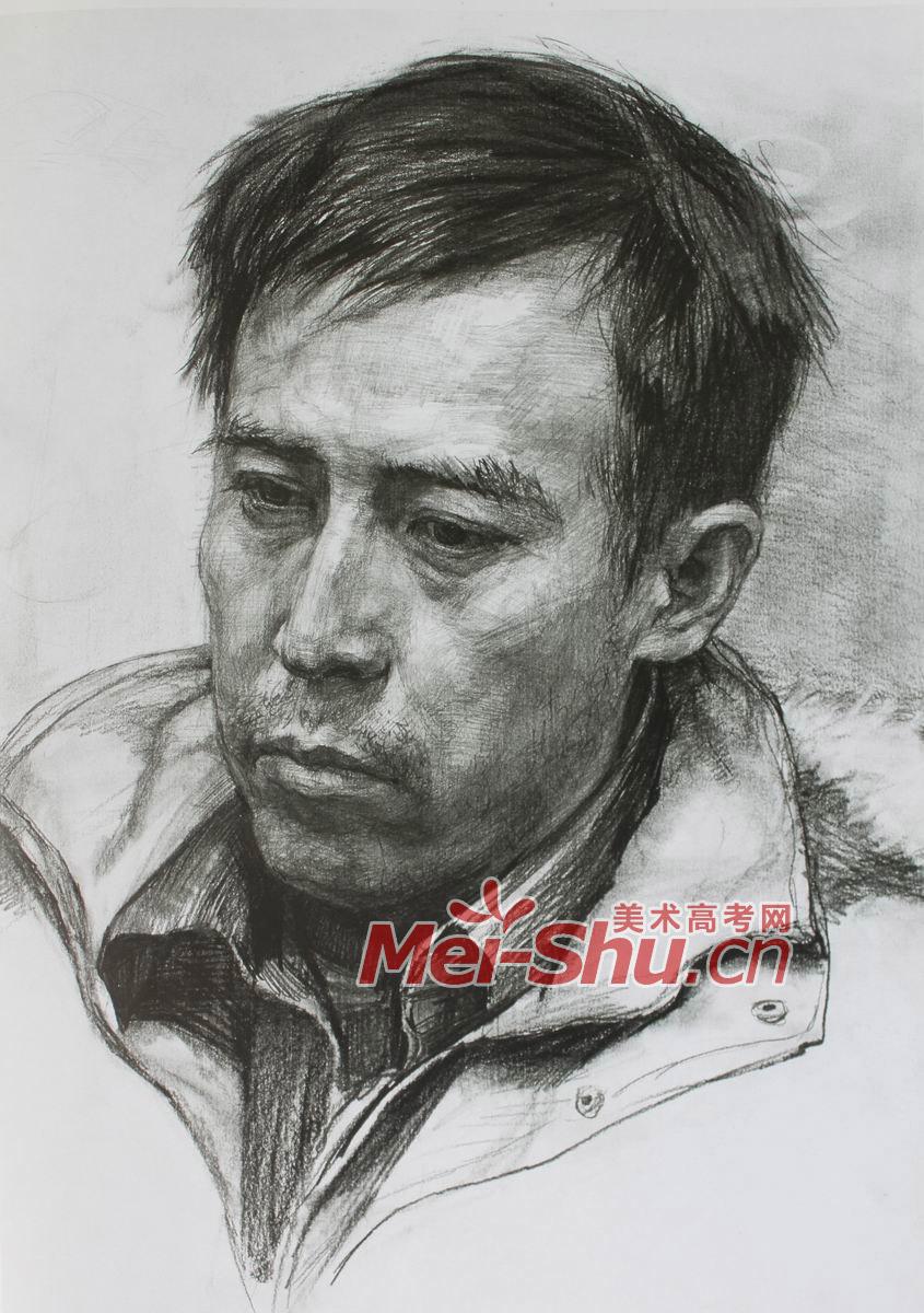 素描头像-素描人头像,中年男子头像
