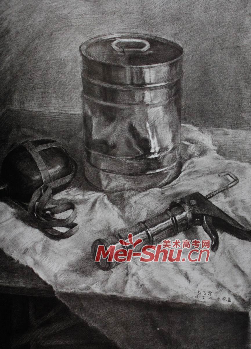 素描静物塑料器皿用品瓶子写生油桶瓶瓷器素描画像海报台布 5图片