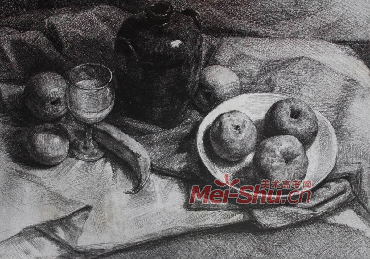 步骤图解图片 素描静物罐子画法图片图片展示_素描静物罐子画法图片相