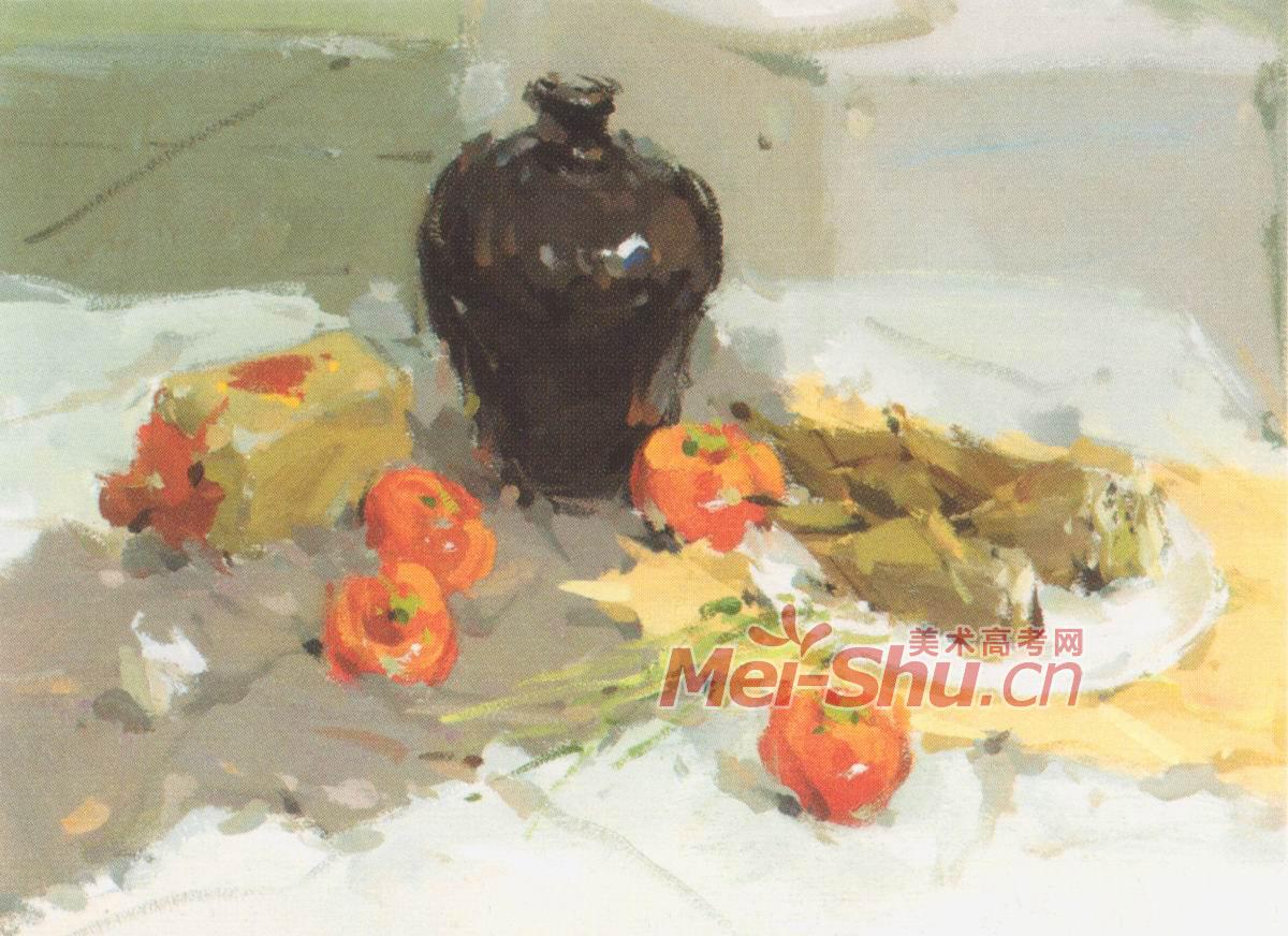 蚂蚁和西瓜的美术展示
