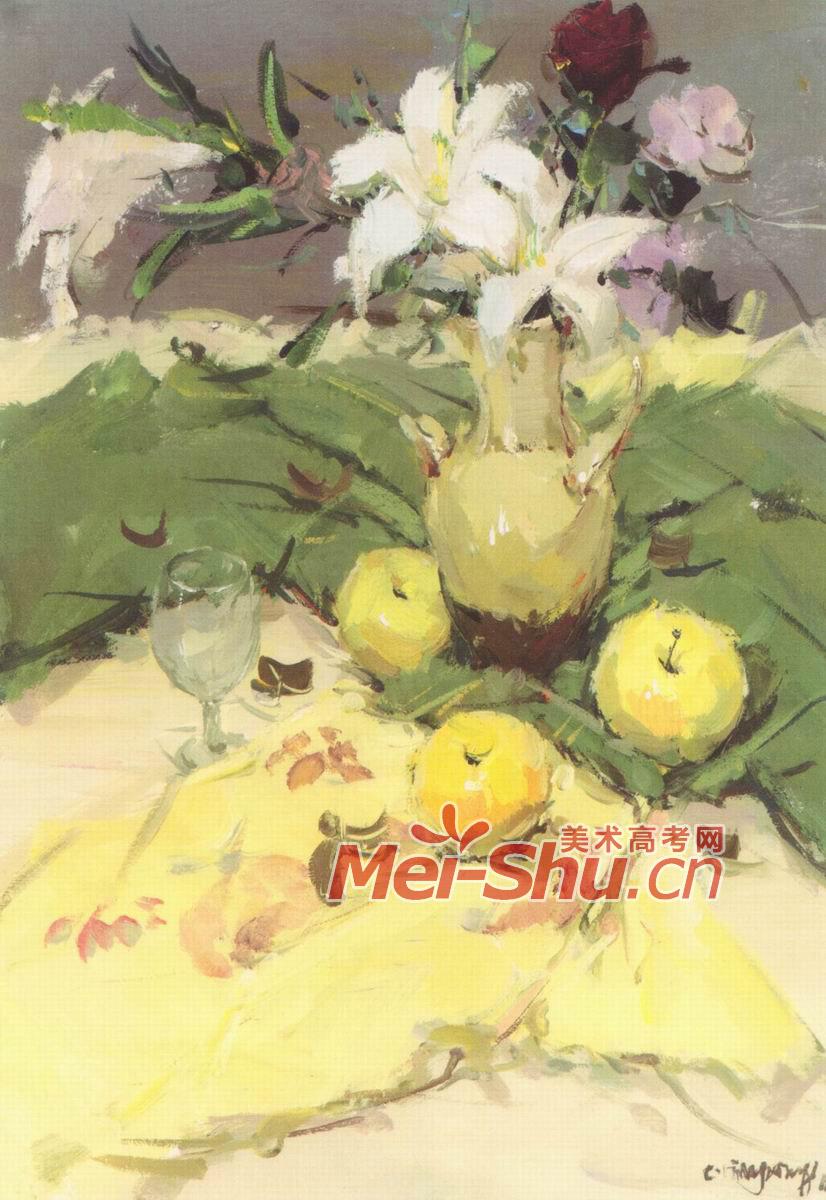 【教程】桌布上的苹果——水彩画法教程