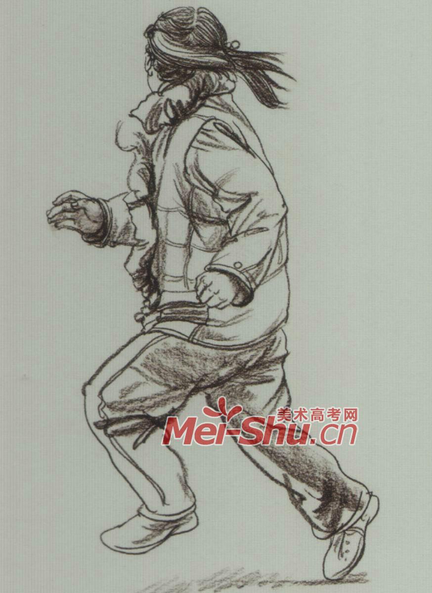 动态 速写 青年/动态速写速写男青年女青年踢球的青年跑步的青年跳神的
