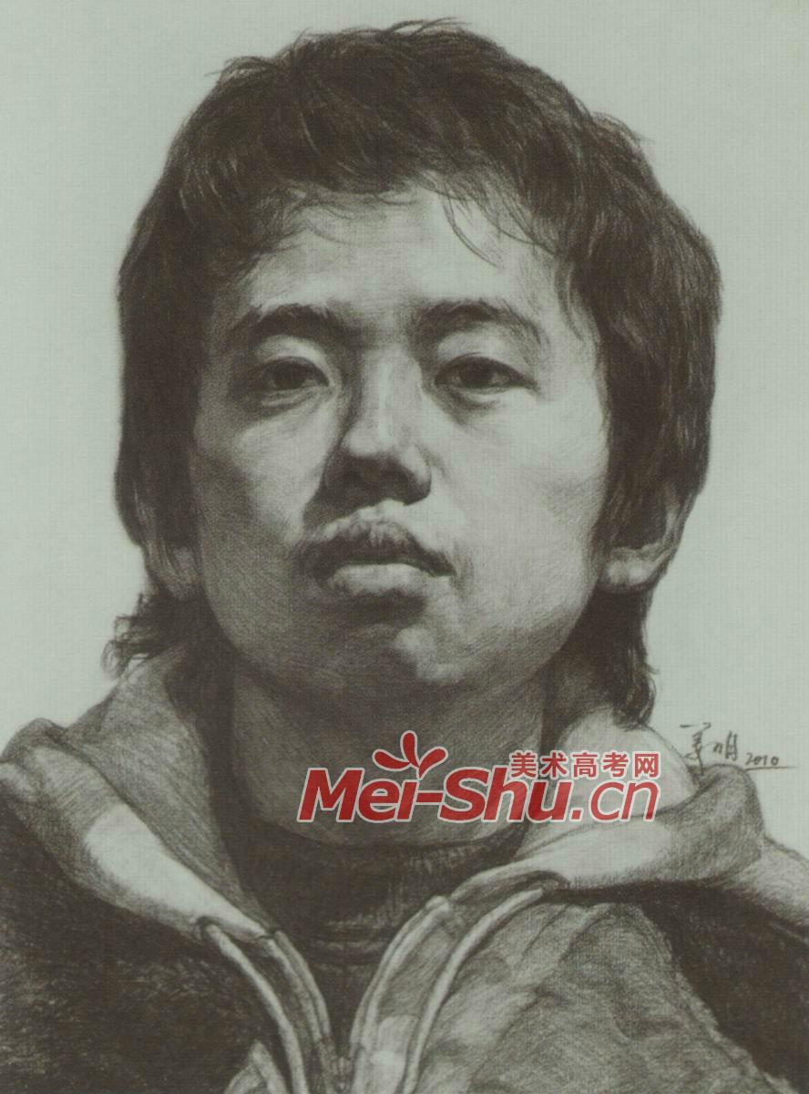 动漫的眼睛素描画法图片|11  (888x1200); 素描头像技法小孩头像长