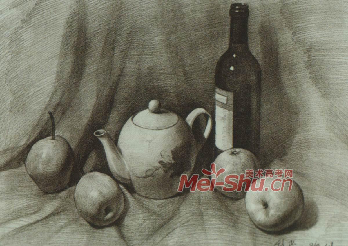 梨子,红酒瓶,茶壶,瓷壶