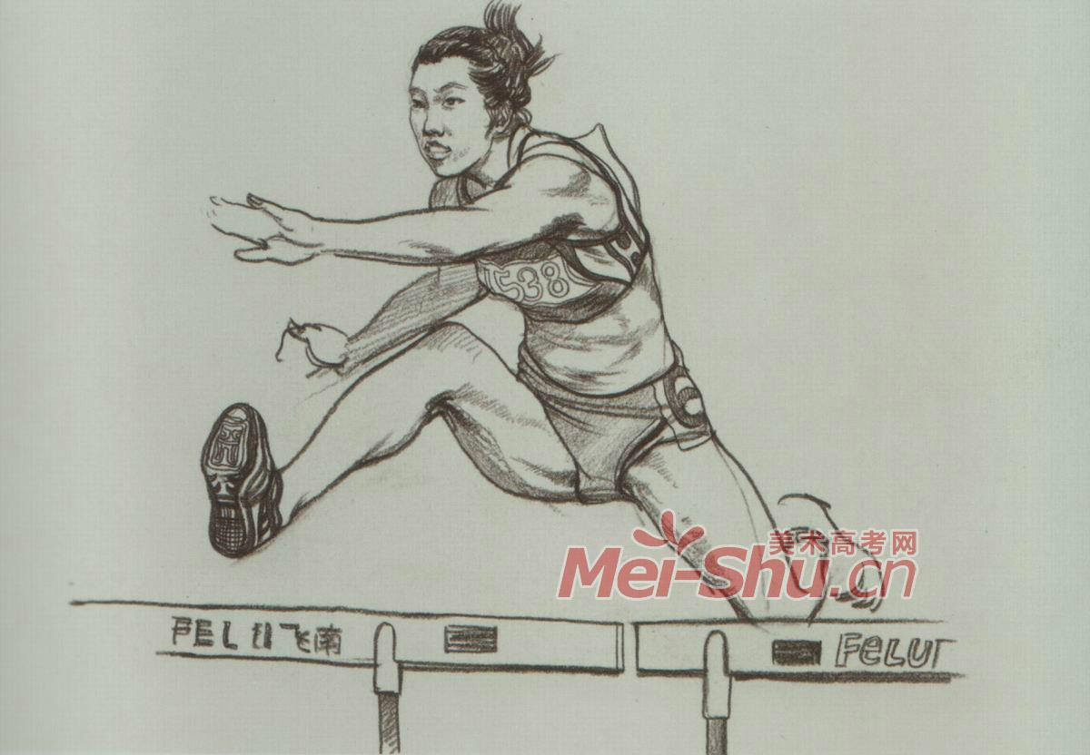人物 速写/动态人物速写/奔跑的人,跳绳的人,跨栏的人