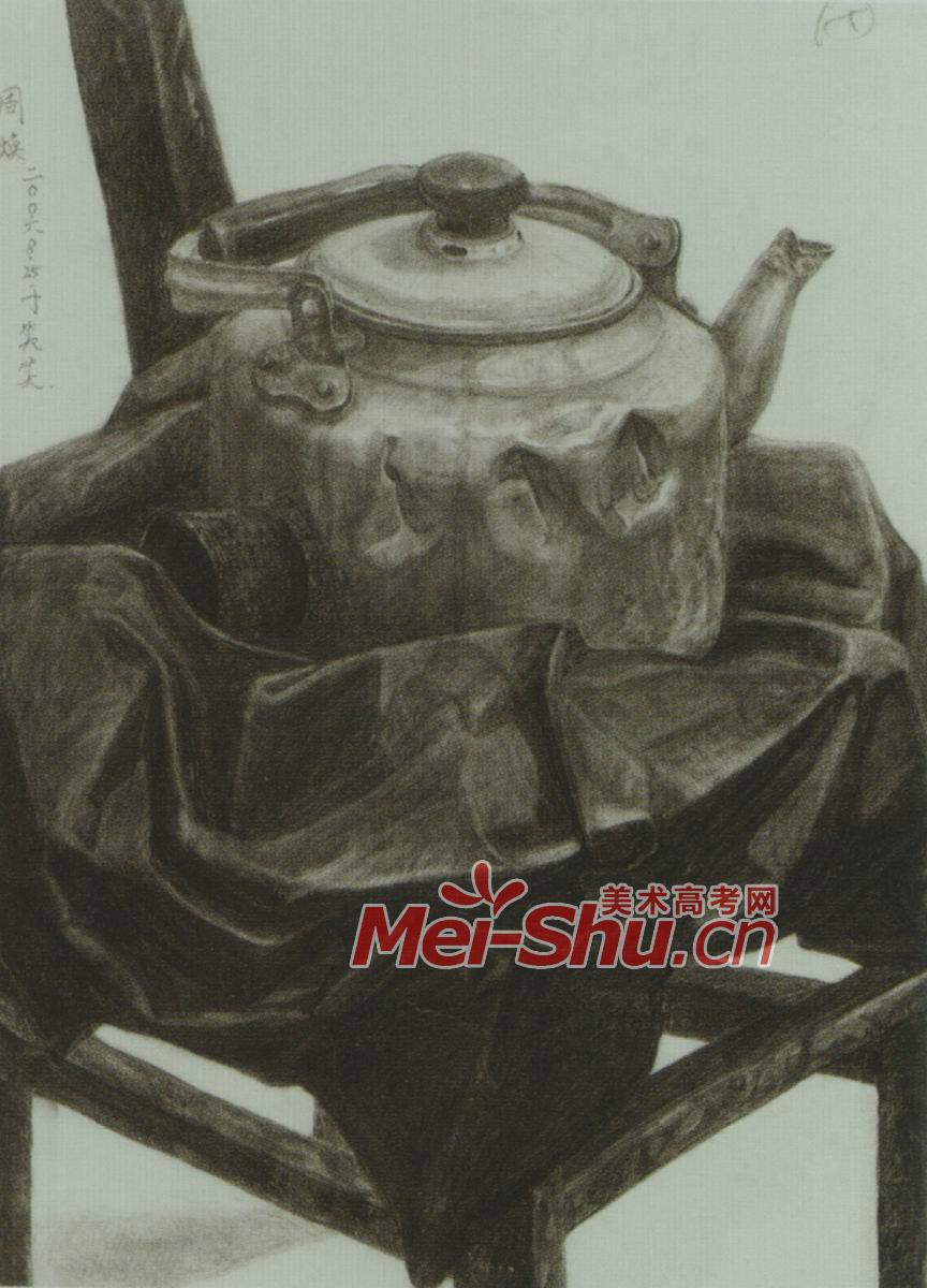 素描静物例图帽子颜料盒书课本玻璃杯水壶(2)