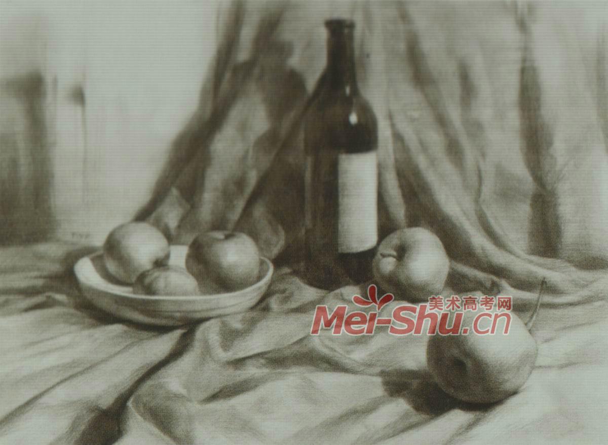 铅笔画荷花的画法 (1200x877); 素描静物莲花白啤酒瓶子酒瓶子; 关于