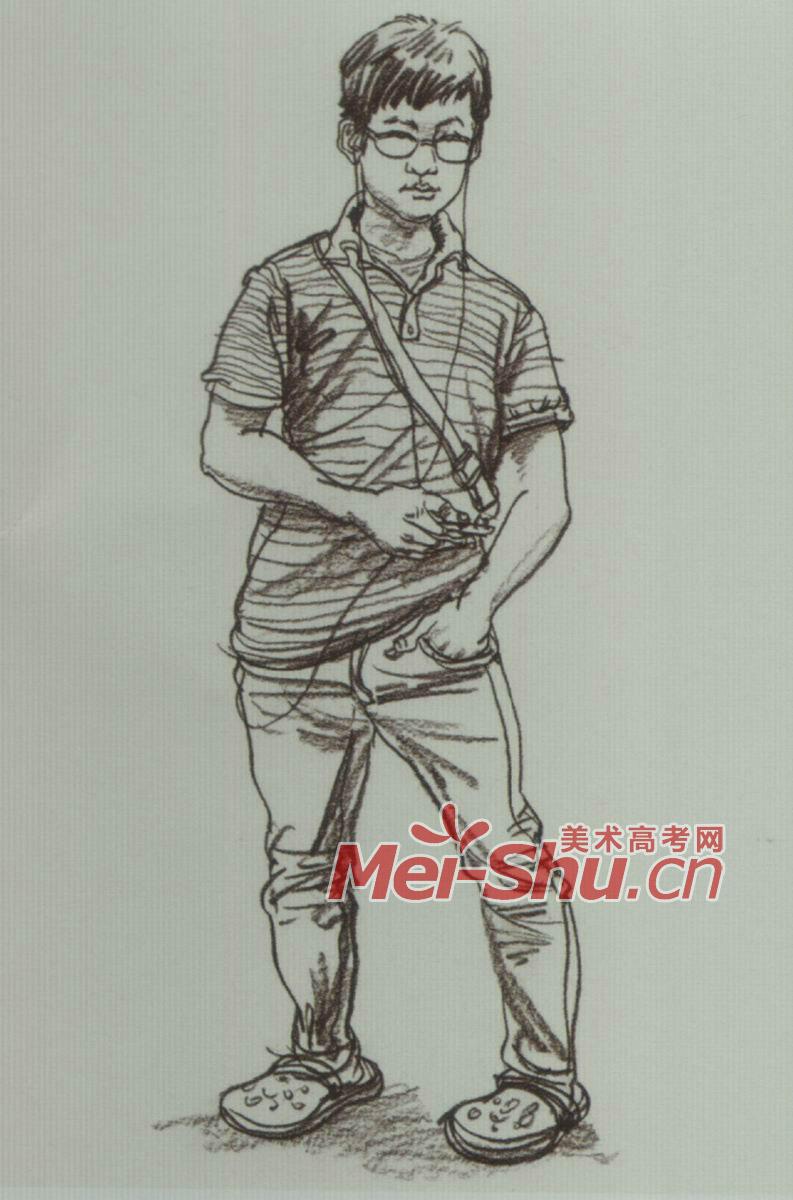 速写人物站姿青年男女(3)