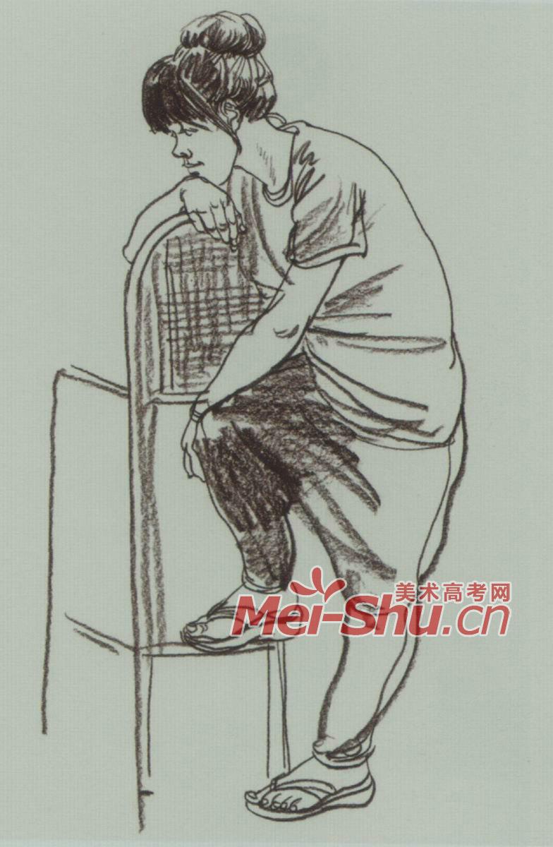 速写人物扭秧歌的人男动态姿势青年绑鞋带的人扶着梯子的人(5)
