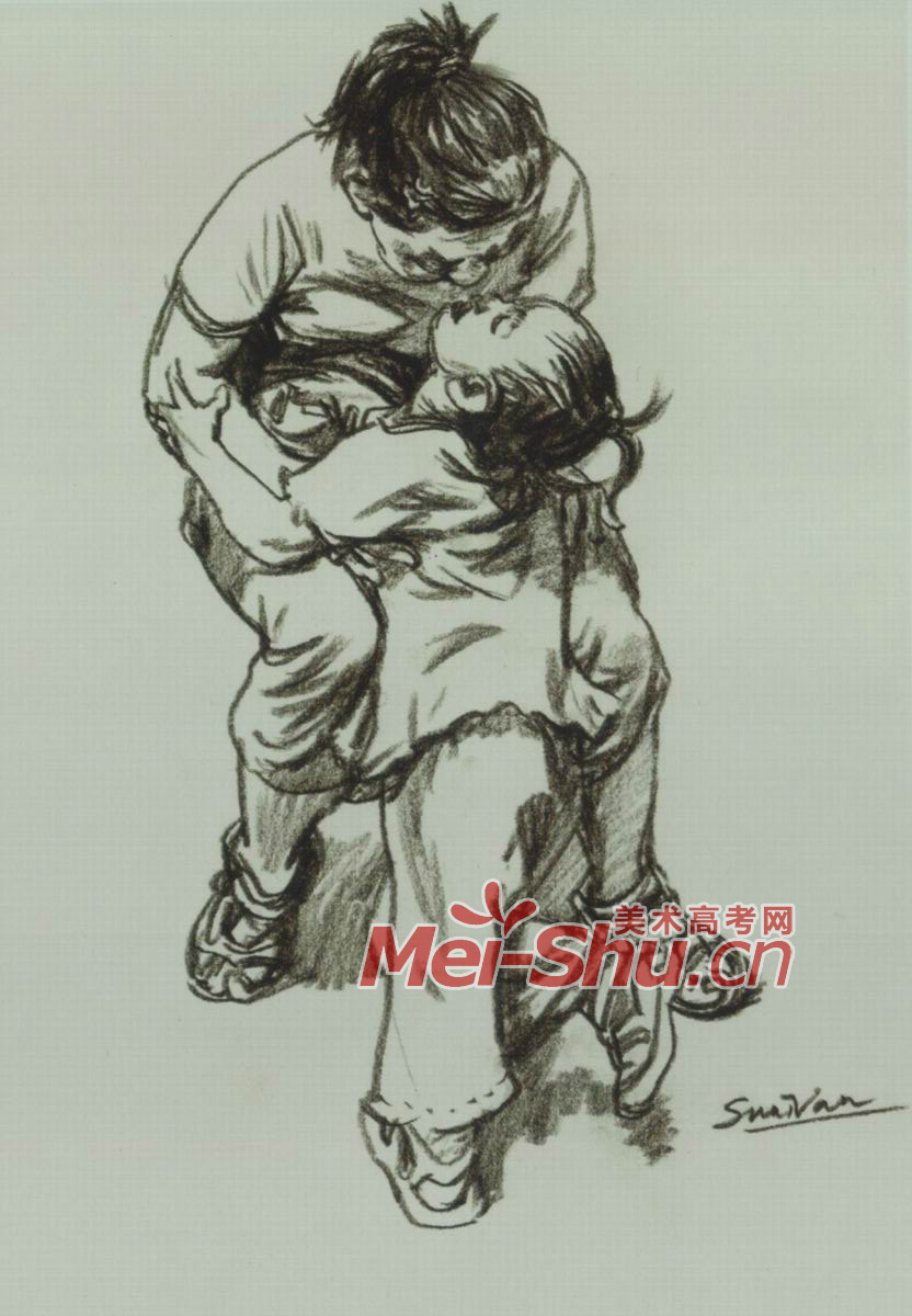 组合速写,站着的人,坐着的人,抱着小孩的女性青年,速写坐着的妈妈,抱
