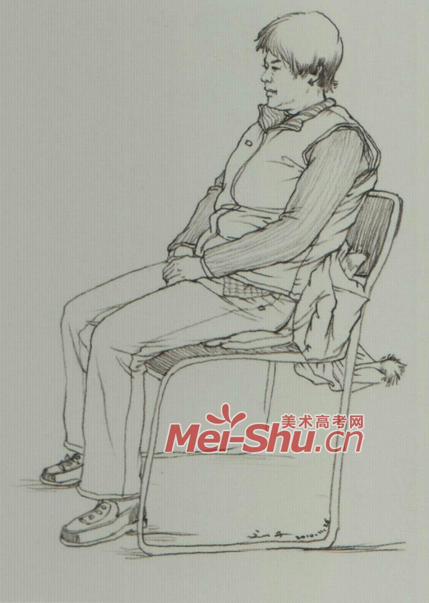 人物速写坐姿玩手机的人,坐姿速写,正侧面坐姿,坐着的青年 3图片
