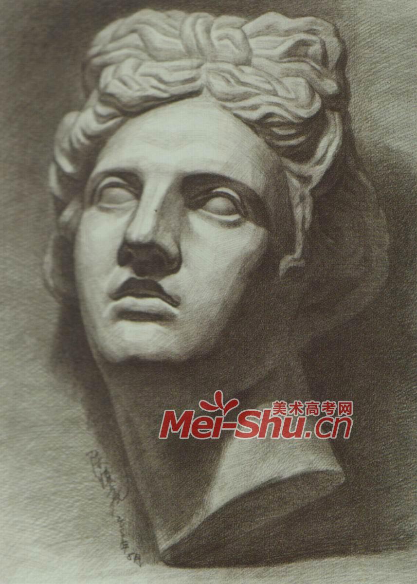 素描石膏像阿波罗石膏头像胸像图片