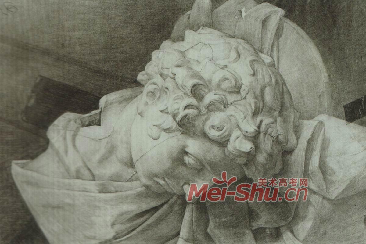 素描石膏像小卫侧面画法正面视角朱利诺小卫石膏头像