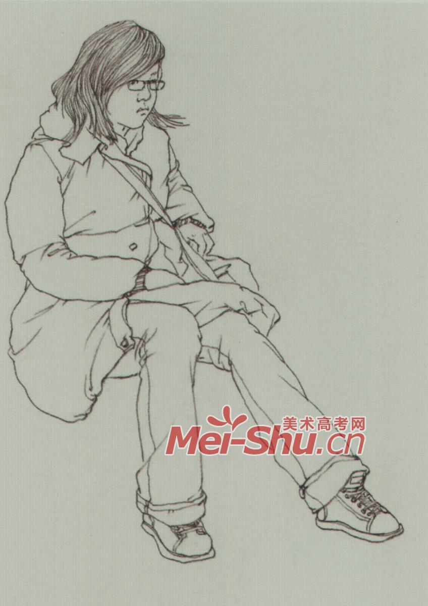速写/速写人物坐姿速写坐着玩手机的人坐着画画