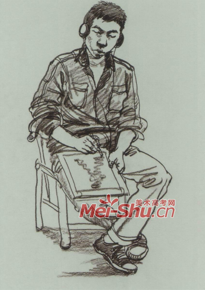 人物速写坐姿双腿交坐姿速写技法叉趴在椅子上躺在椅子上伸着腿坐 图片