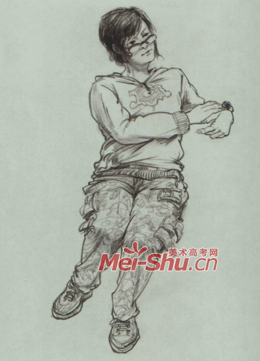 速写人物坐着看手表的人穿棉衣的女孩坐姿打篮球的人