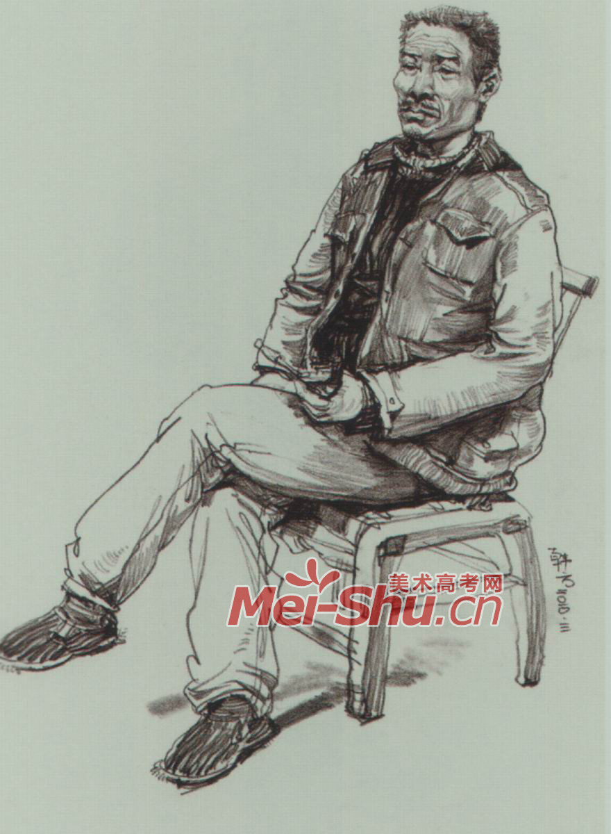 速写人物坐姿范画技法抱着腿的坐姿中年人二郎腿坐姿坐在凳子上女 5