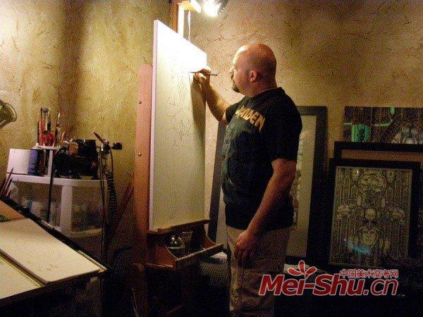 画画是件忒幸福的事情-围观国外画家画室