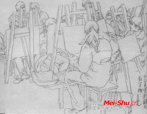 古代人物背影简笔画-古代雨伞图片简笔画/古代女生背影简笔画/古代