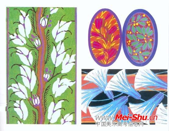 变形花卉图案设计